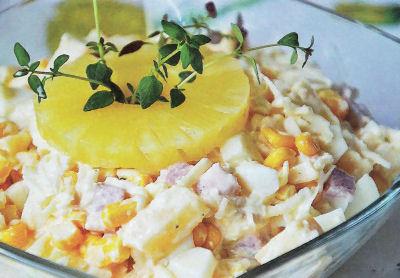 Salatka Z Szynka Ananasem Selerem I Serem Przepis Odzywianie